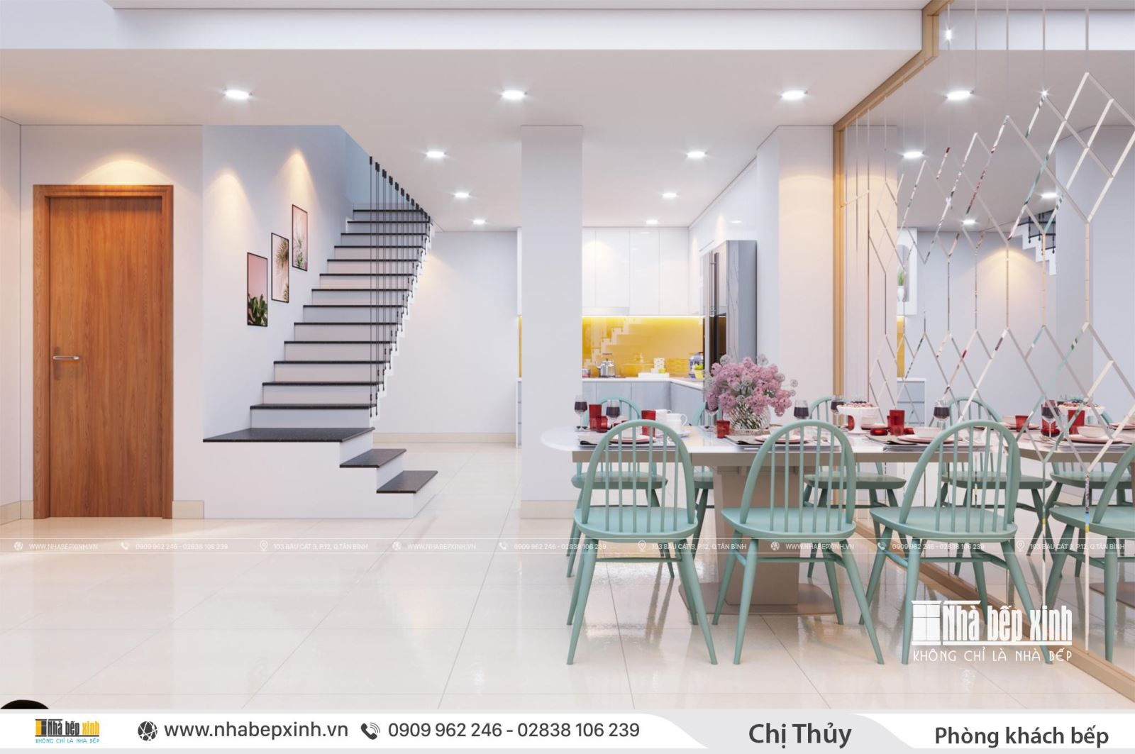 Thiết kế trọn gói nội thất Duplex căn 127m2 Emerald Celadon City
