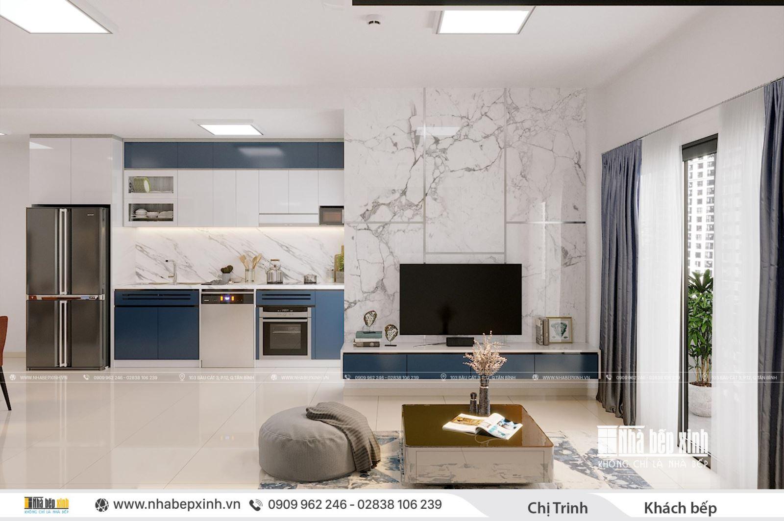 Thiết kế và thi công nội thất trọn gói hiện đại tại căn 104m2 Emerald Celadon City