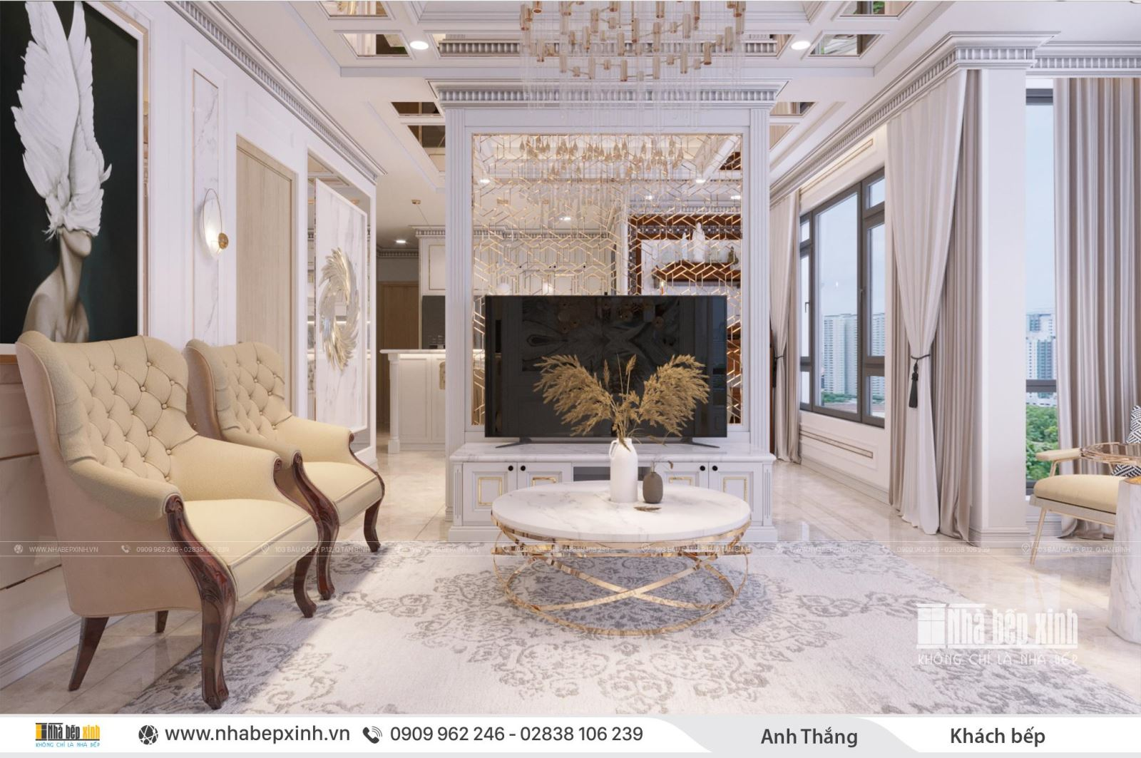 Khám phá nội thất căn 106m2 Chung cư Emerald Celadon City