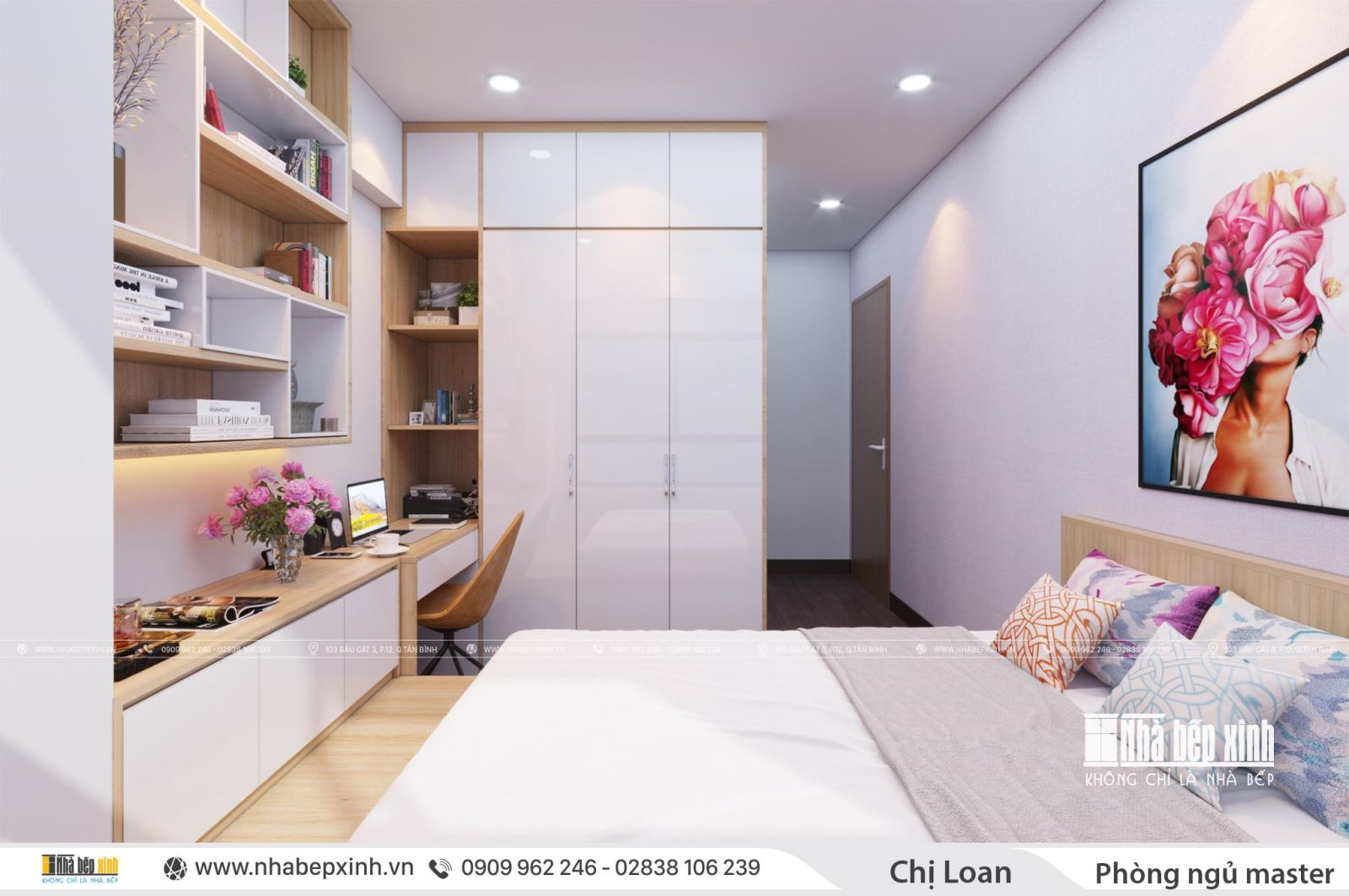 Thiết kế nội thất trọn gói đẹp dành cho căn hộ 2 phòng ngủ