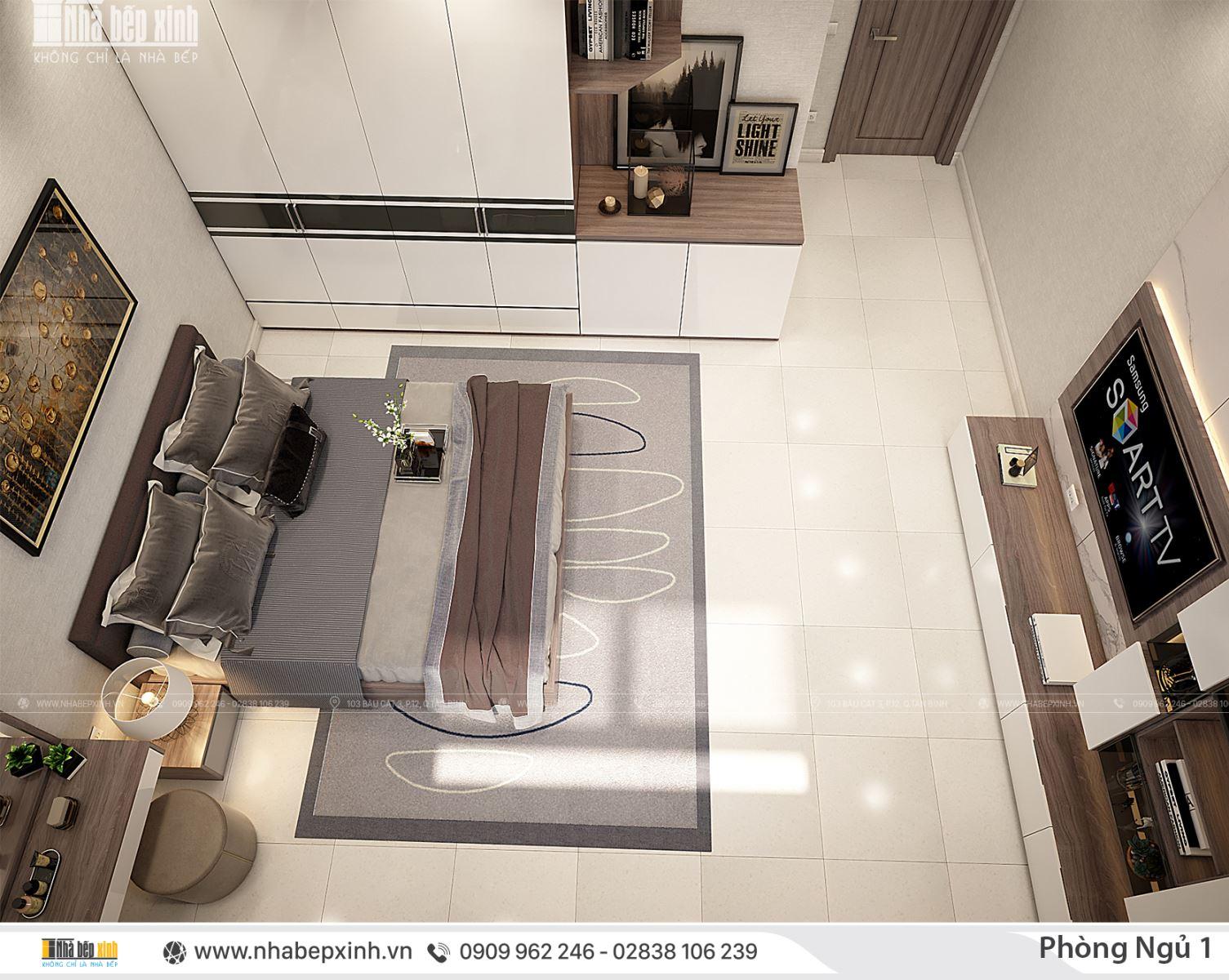 Các mẫu thiết kế phòng ngủ đẹp tông màu nhẹ nhàng