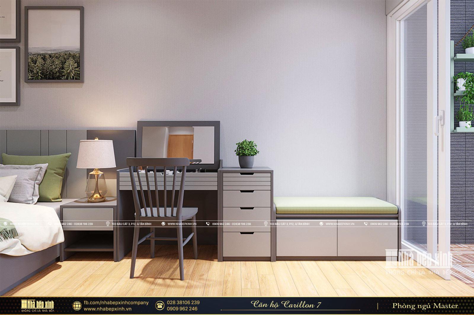 Căn hộ mẫu Carillon 7 - 2 phòng ngủ