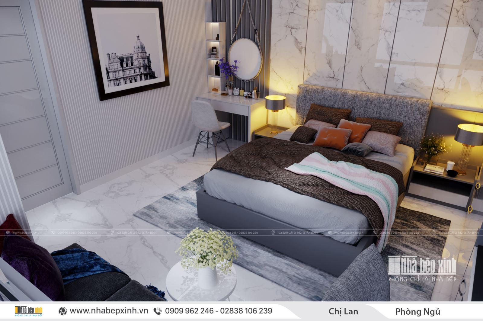 Phòng ngủ hiện đại nhà chị Lan