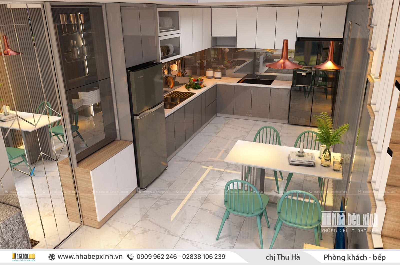 Hướng dẫn thiết kế nội thất phòng khách _ bếp đẹp nhất