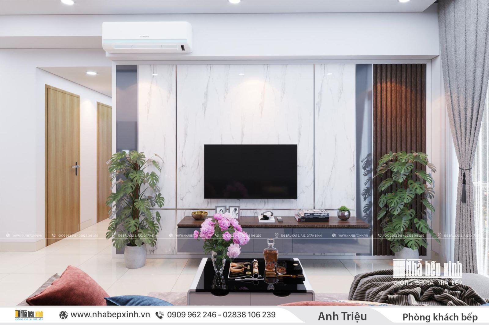 Thiết kế nội thất nguyên căn nhà anh Triệu tại Emerald Celadon City 72m2