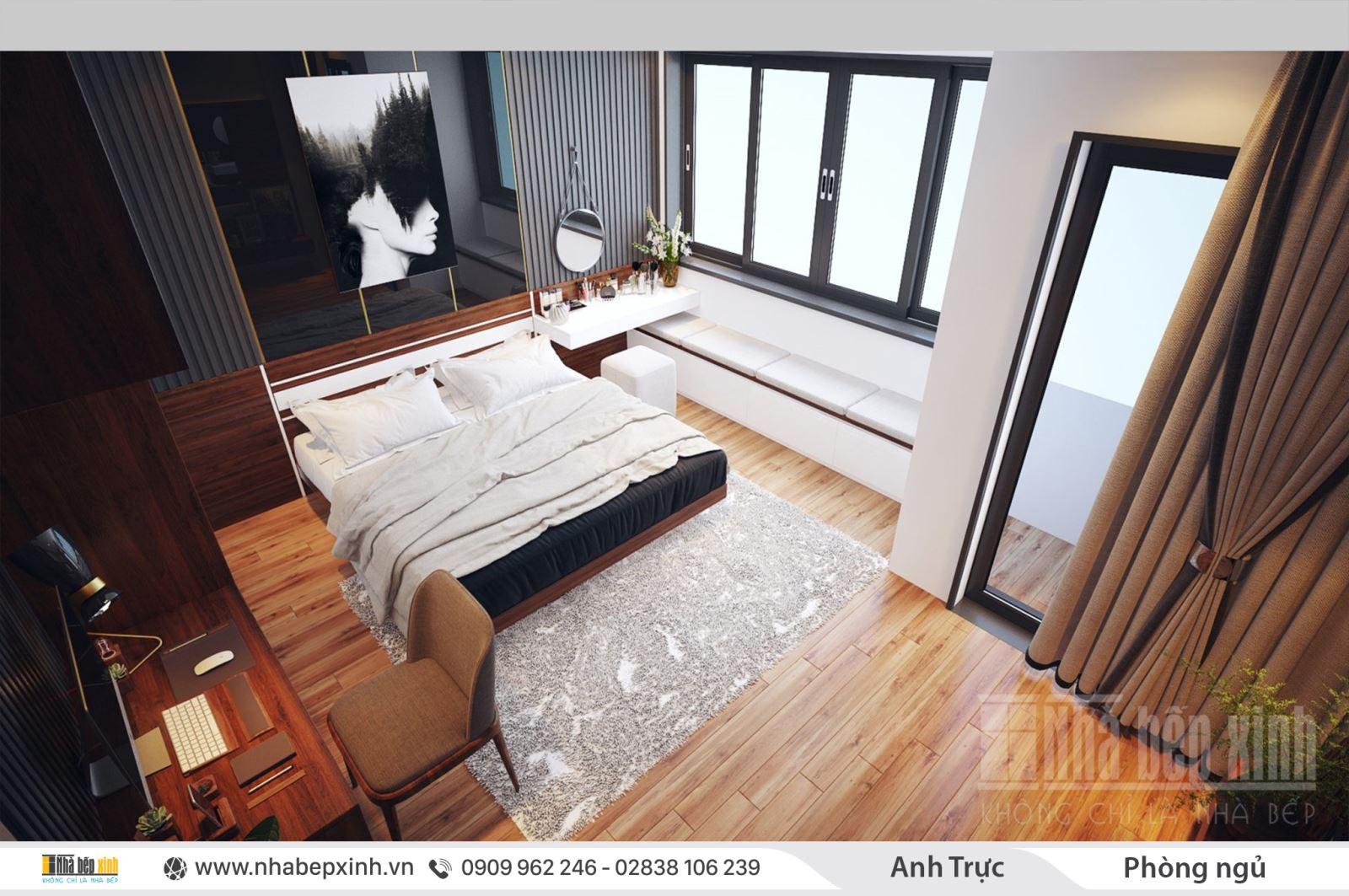 Mẫu phòng ngủ đẹp tiện nghi nhất dành cho nhà phố