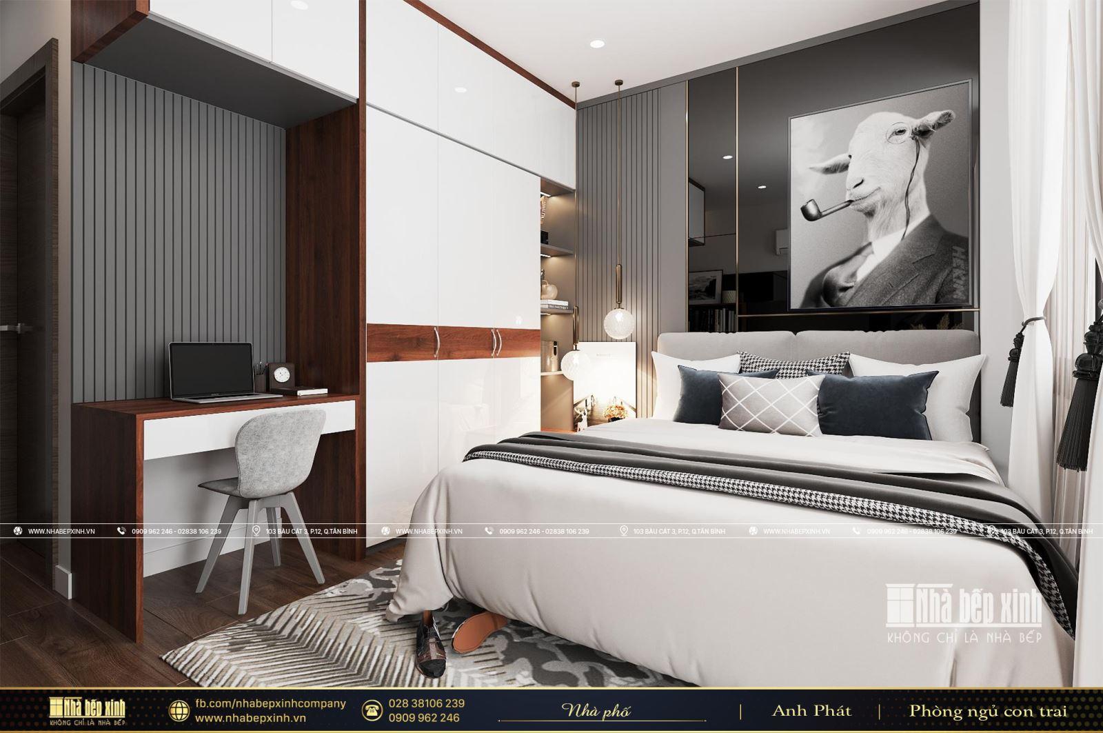 Mẫu phòng ngủ hiện đại dành cho con trai