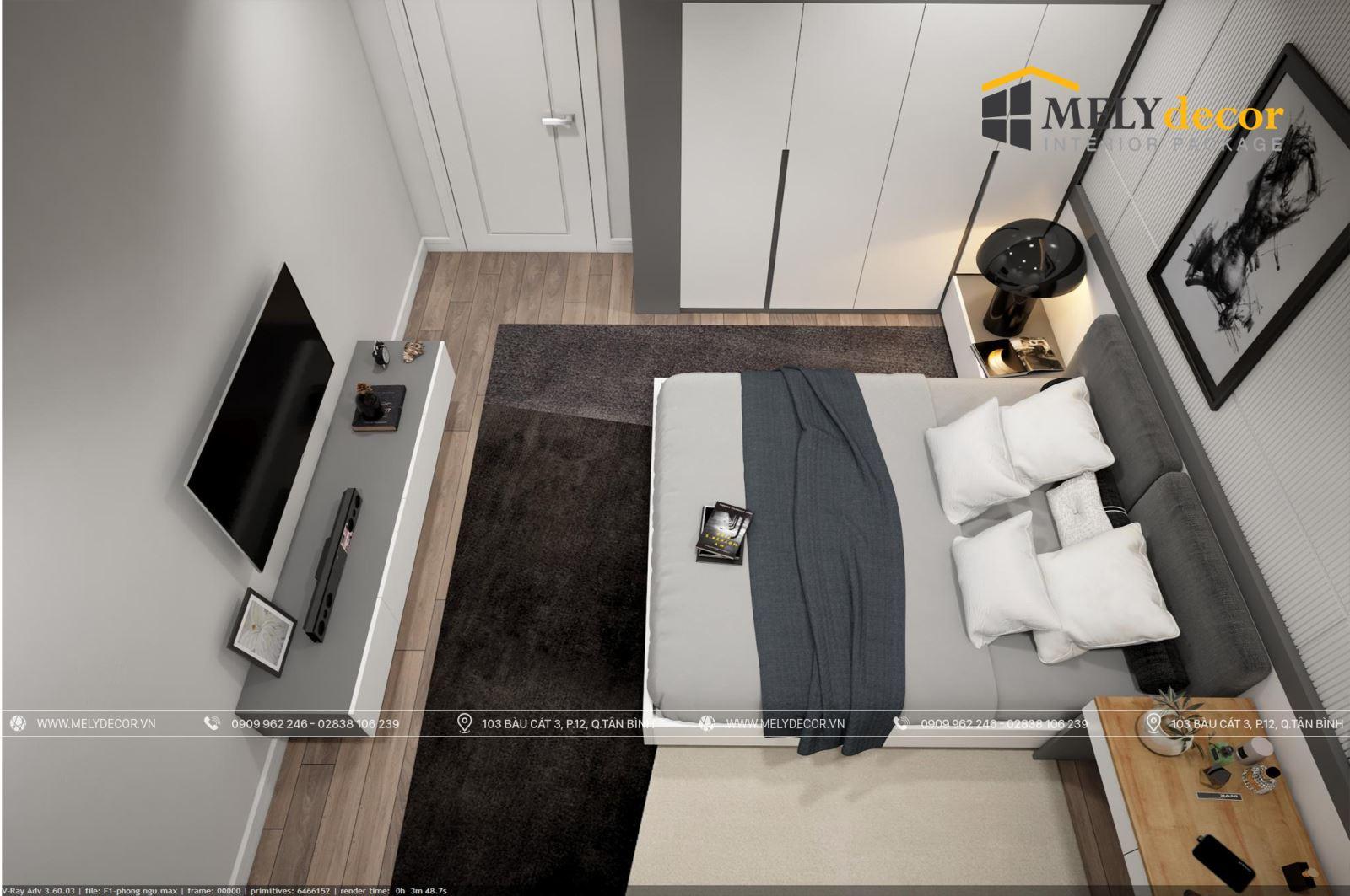 Nội thất căn hộ 3 phòng ngủ Sunshine Continental Quận 10