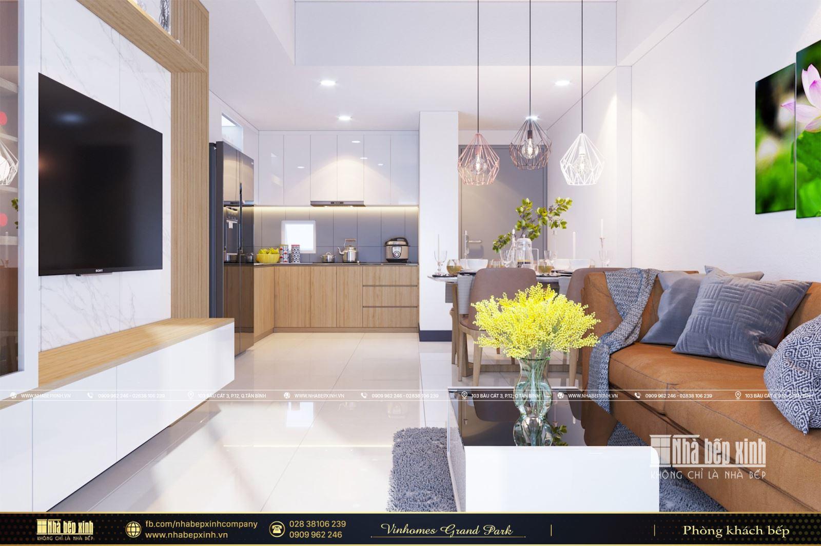 Tổng hợp các mẫu thiết kế nội thất chung cư Vinhomes Grand Park - Phân khu Origami