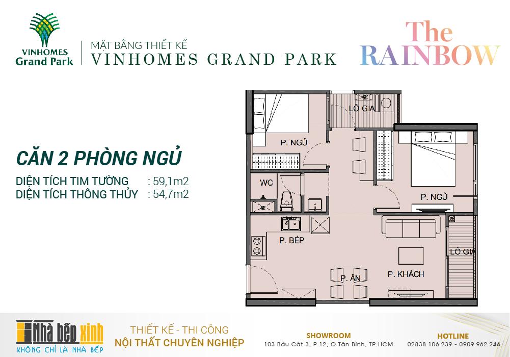 Mặt bằng căn hộ Vinhomes Grand Park - Phân khu The Rainbow