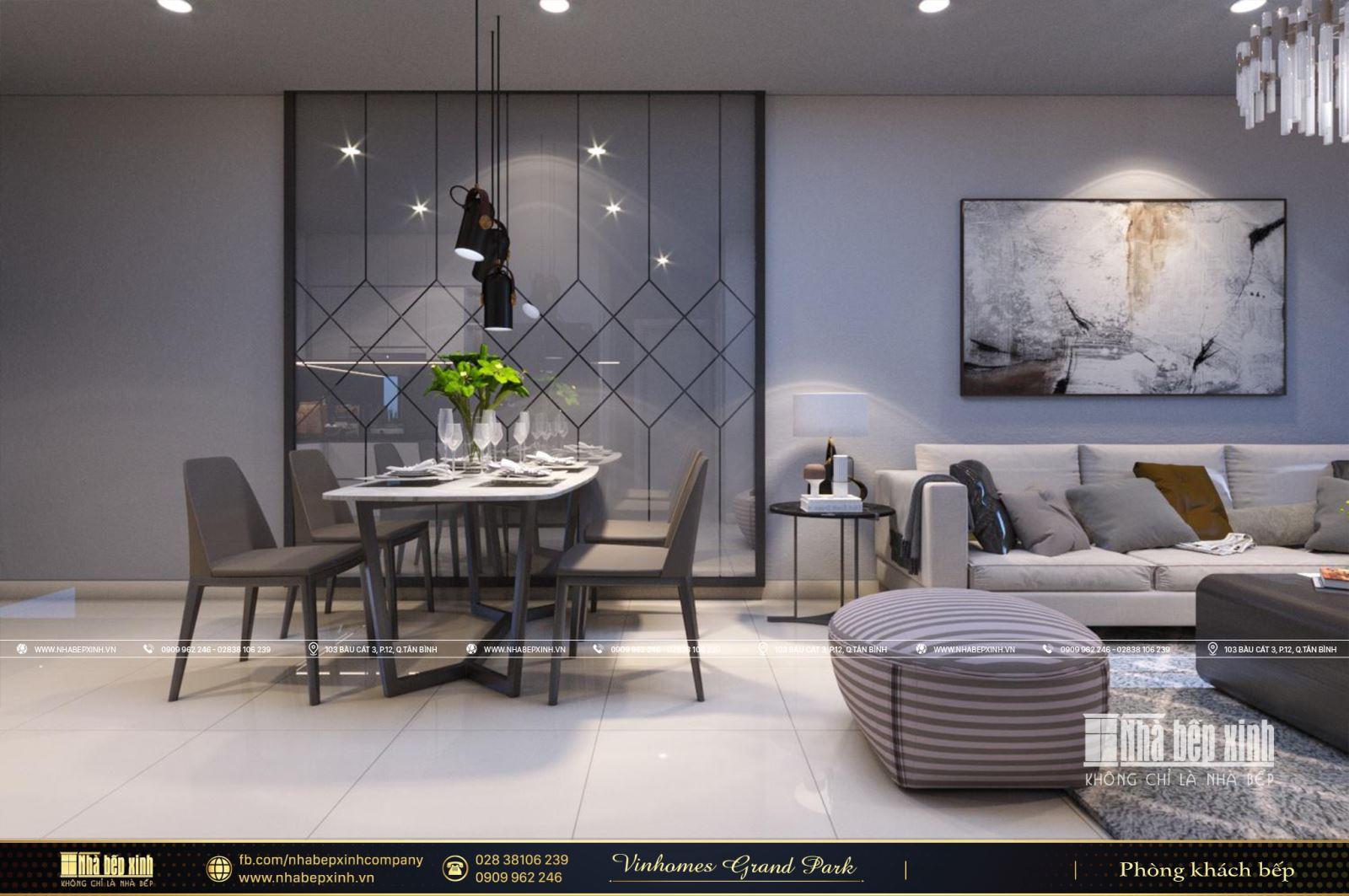 Nội thất căn hộ Vinhomes Grand Park The Origami 66m2 - 2 phòng ngủ