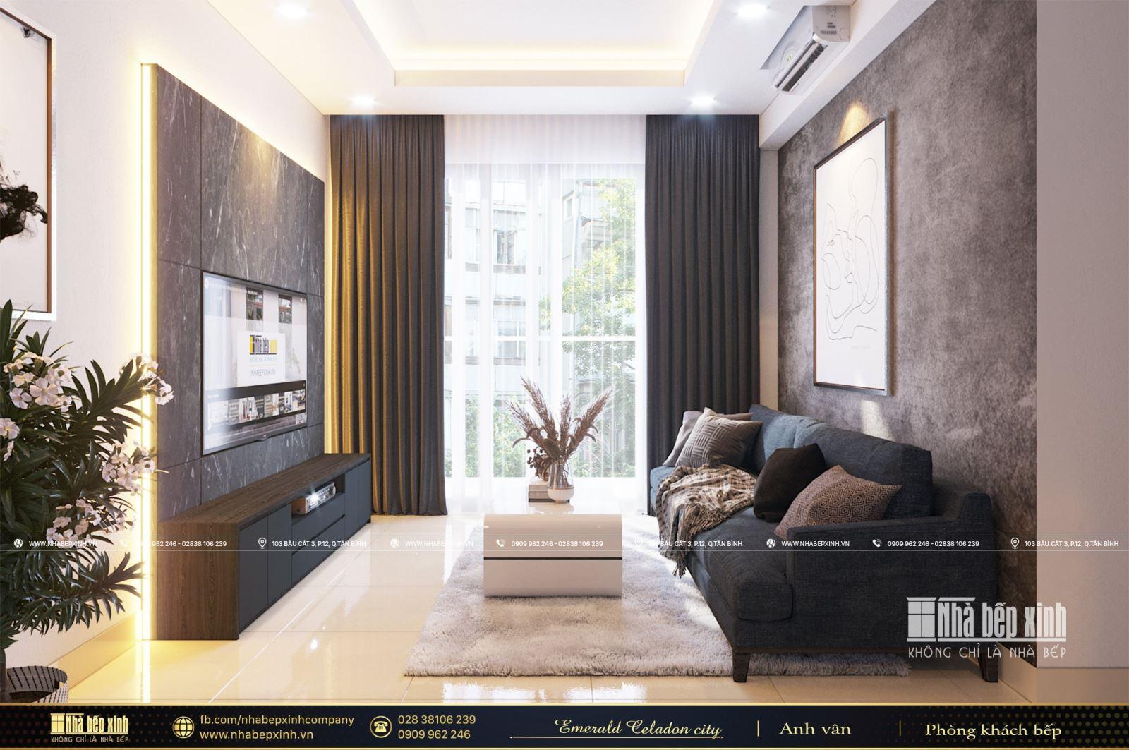 Khám phá nét đẹp hiện đại tại Emerald Celadon City 84m2