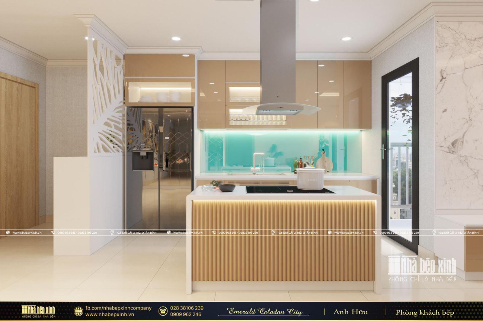 Vẻ đẹp cuốn hút từ mẫu thiết kế nội thất hiện đại căn Emerald Celadon City 104m2