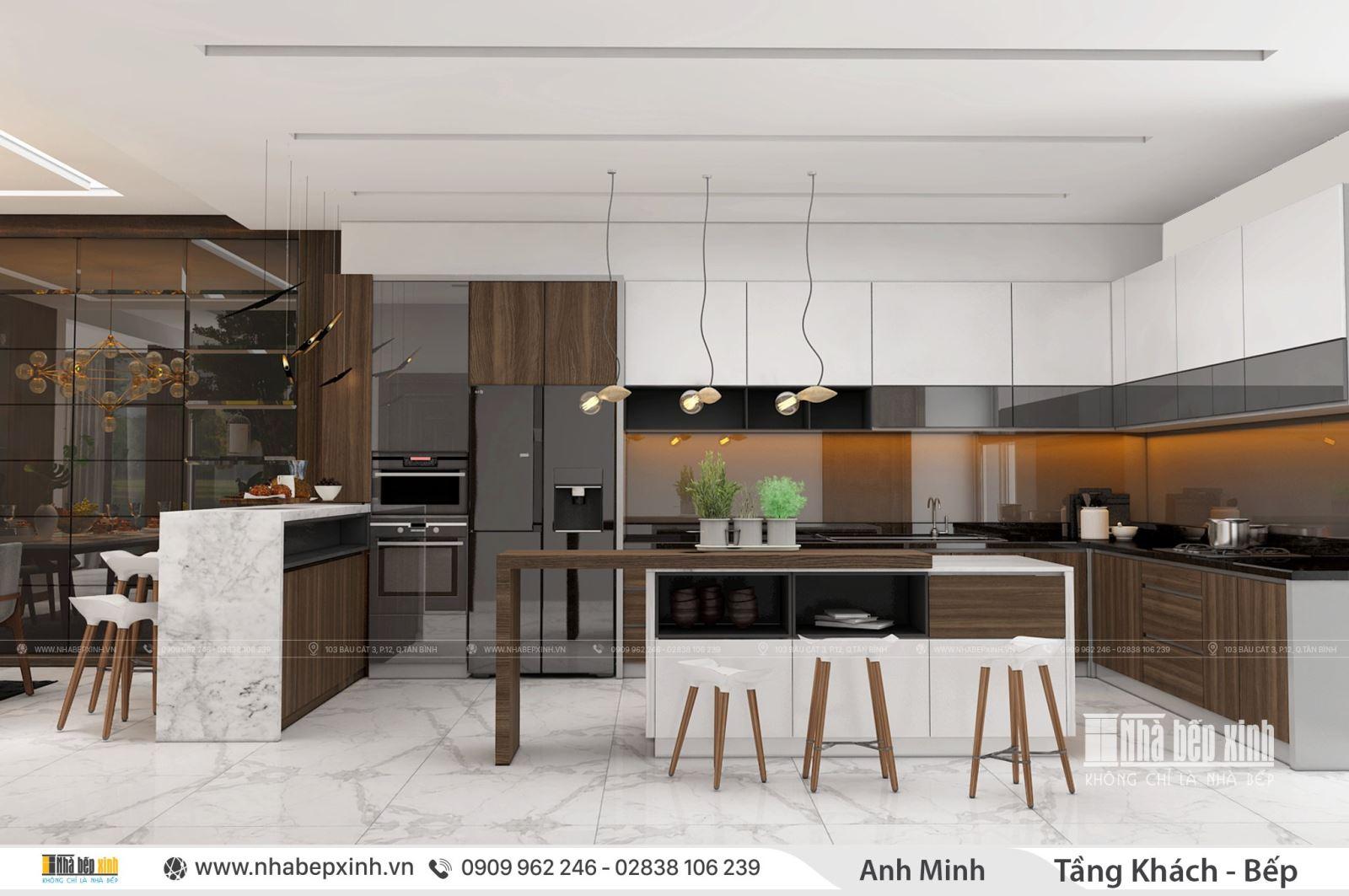Nội thất phòng khách bếp - Thiết kế phong cách hiện đại