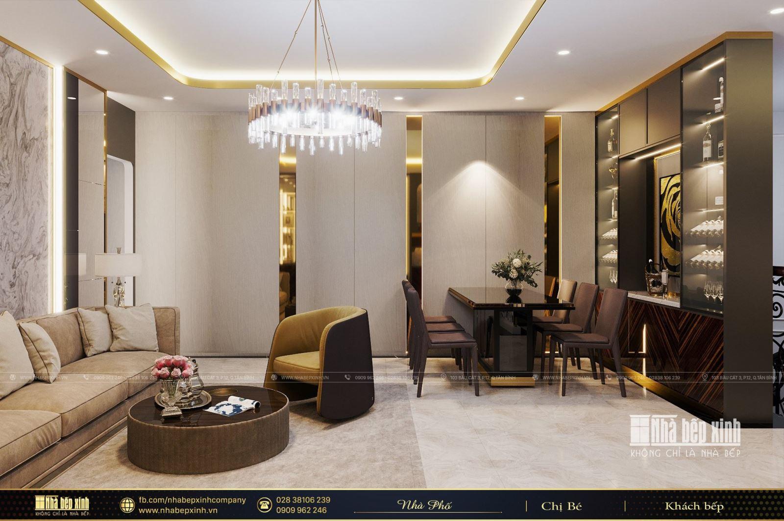 Ngắm nhìn mẫu thiết kế nội thất nhà phố cao cấp tại Cần Thơ