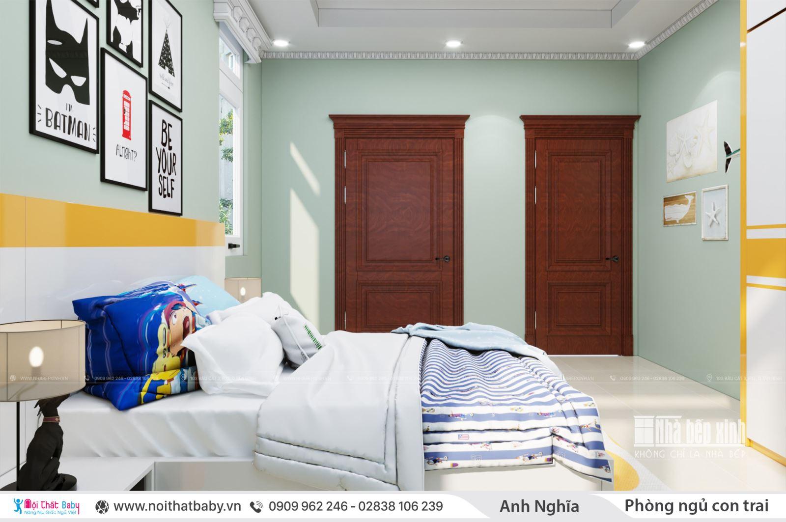 Nội thất phòng ngủ con trai hiện đại cá tính