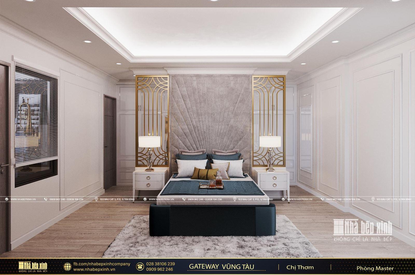 Nội thất sang trọng trong phong cách tân cổ điển căn Penthouse Gateway Vũng Tàu 220m2