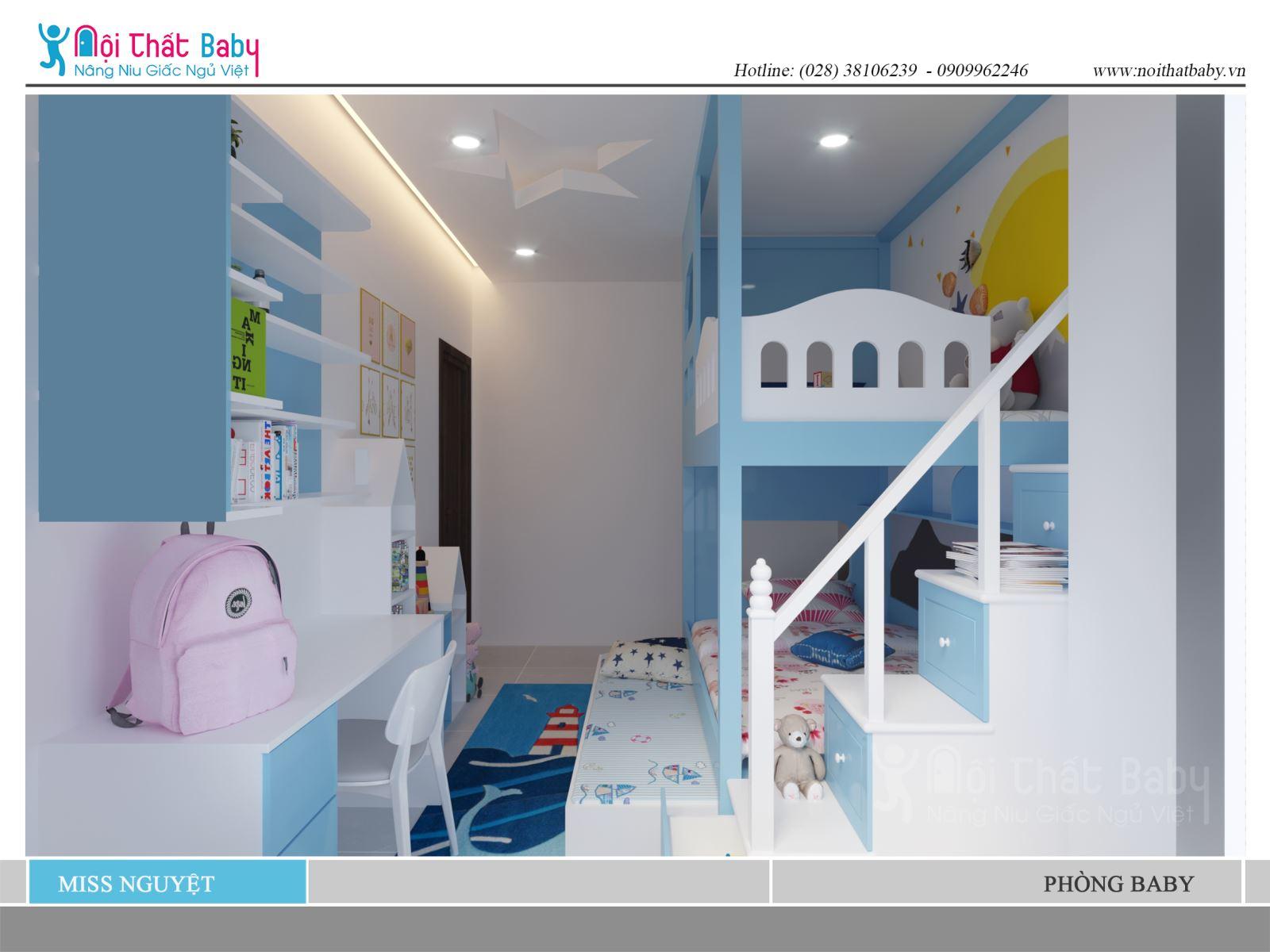 phòng ngủ baby nhà chị nguyệt