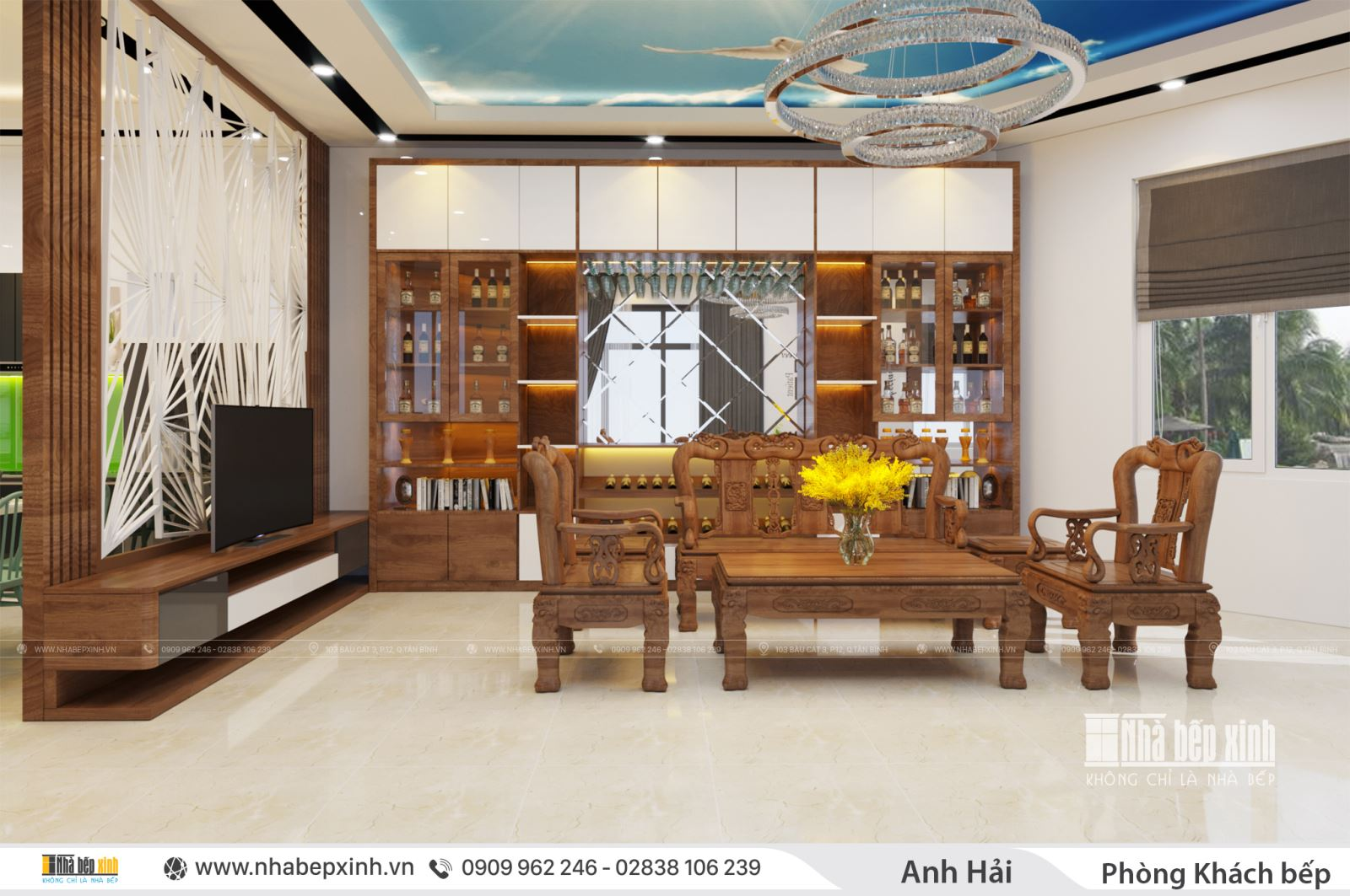 Thiết kế nội thất nguyên căn theo xu hướng hiện đại
