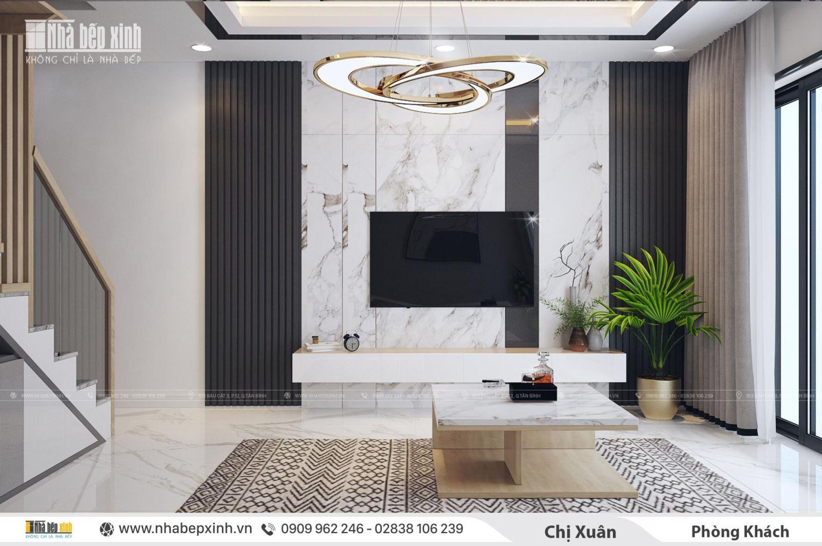 Nội thất nguyên căn hiện đại với phong cách tối giản