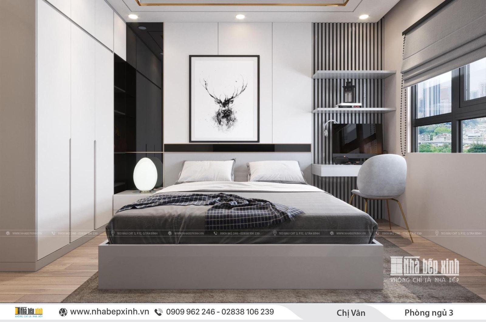 Phòng ngủ hiện đại tại chung cư Celadon City