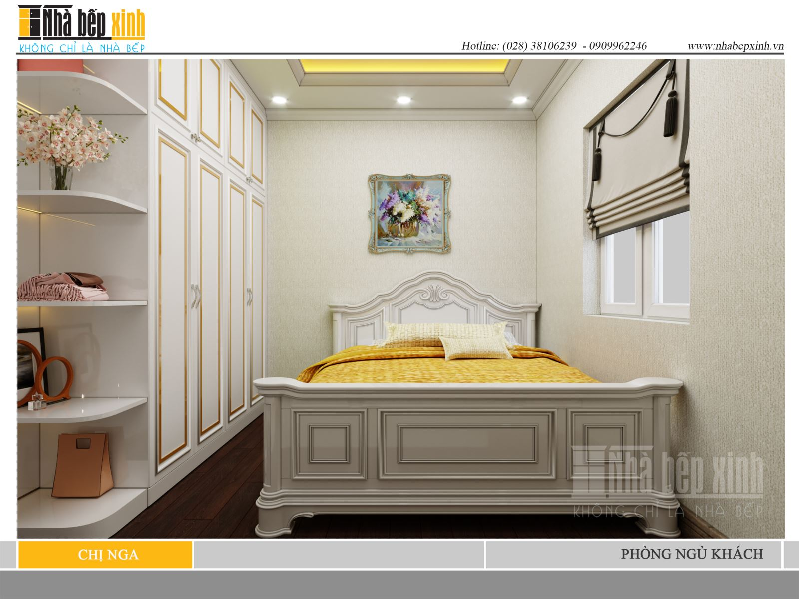 Phòng ngủ người lớn tân cổ điển đẹp