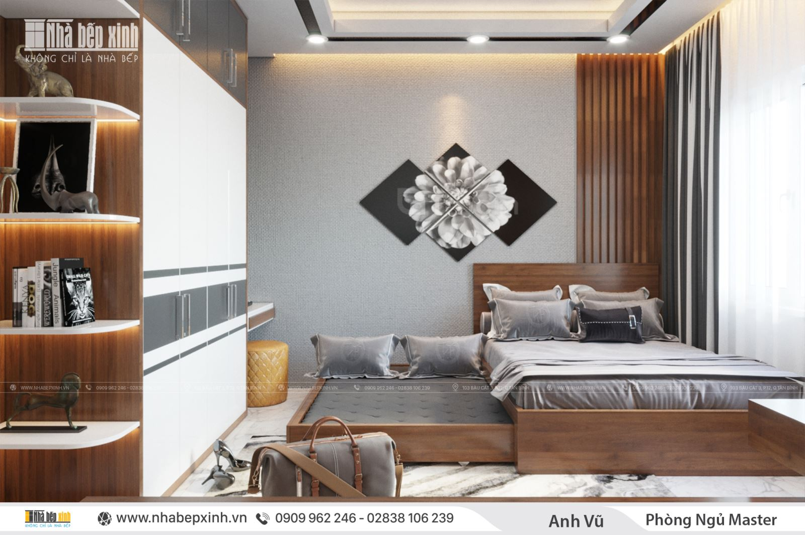 Phòng ngủ master hiện đại