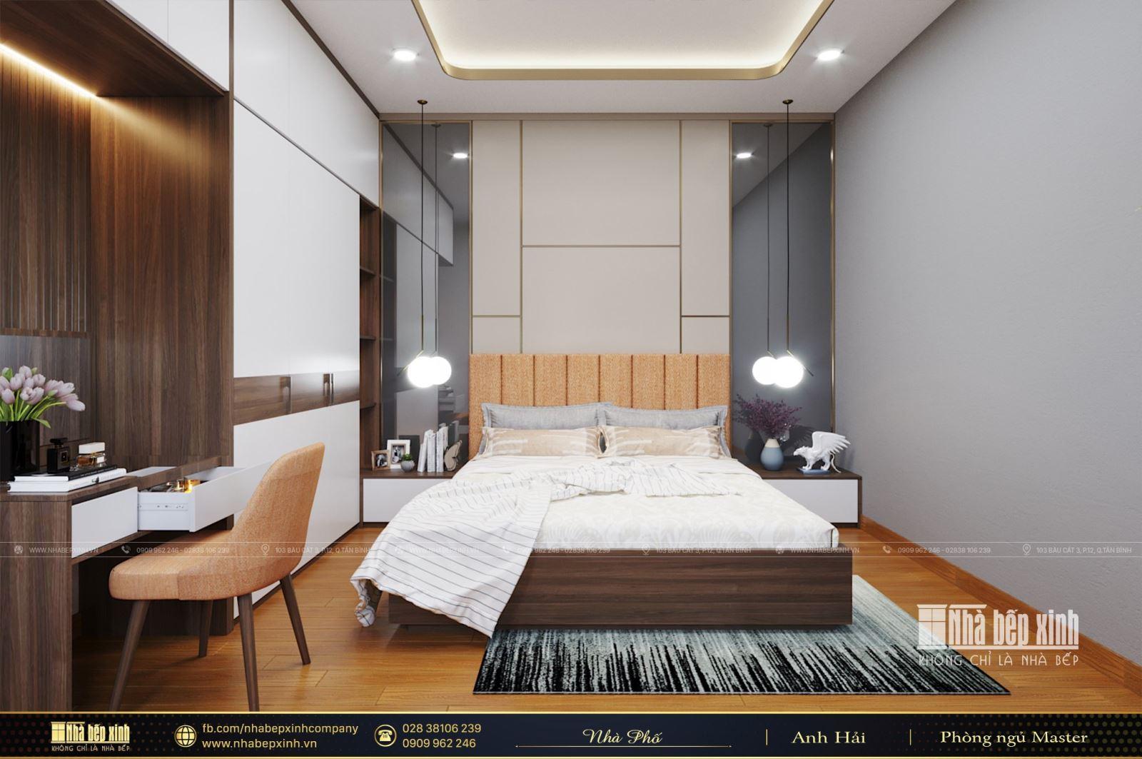 Thiết kế nội thất nhà phố hiện đại tại Hóc Môn