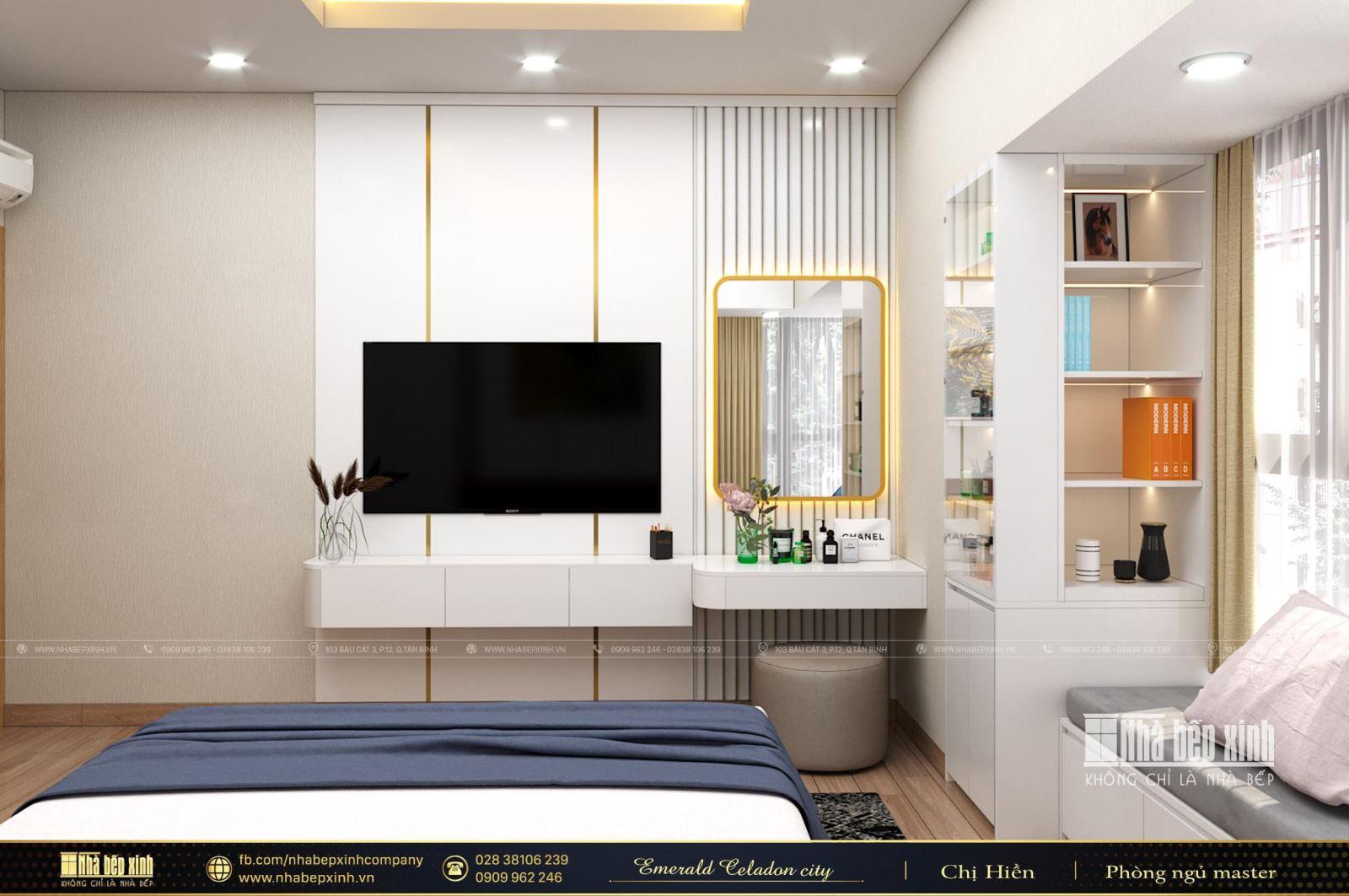 Thiết kế và thi công nội thất trọn gói uy tín - chất lượng tại Emerald Celadon City 104m2