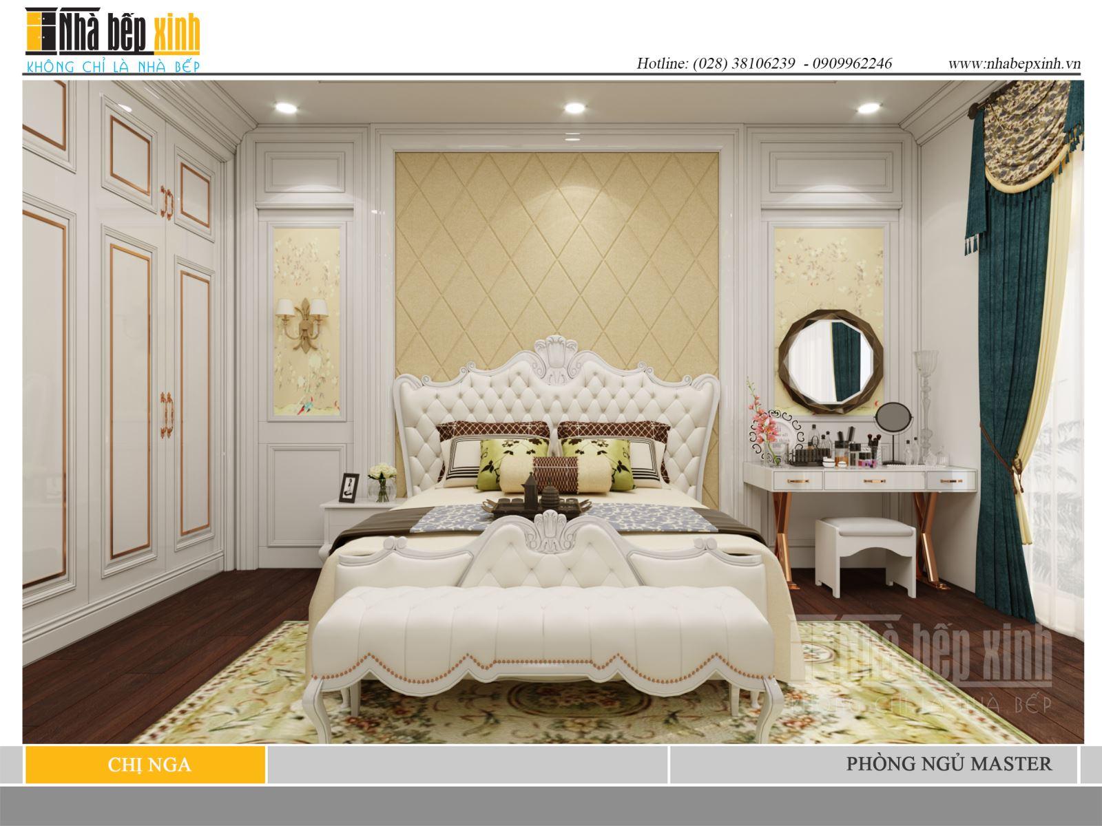 Phòng ngủ Master tân cổ điển đẹp