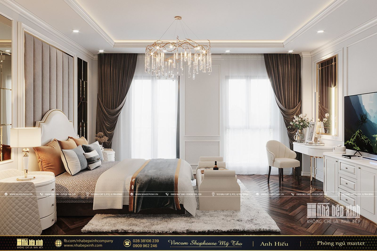 Thiết kế & Thi công nội thất tại Nhà phố Vincom Shophouse Mỹ Tho - Tiền Giang