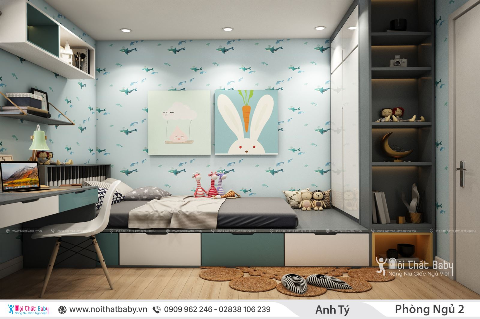 Phòng ngủ trẻ em hiện đại