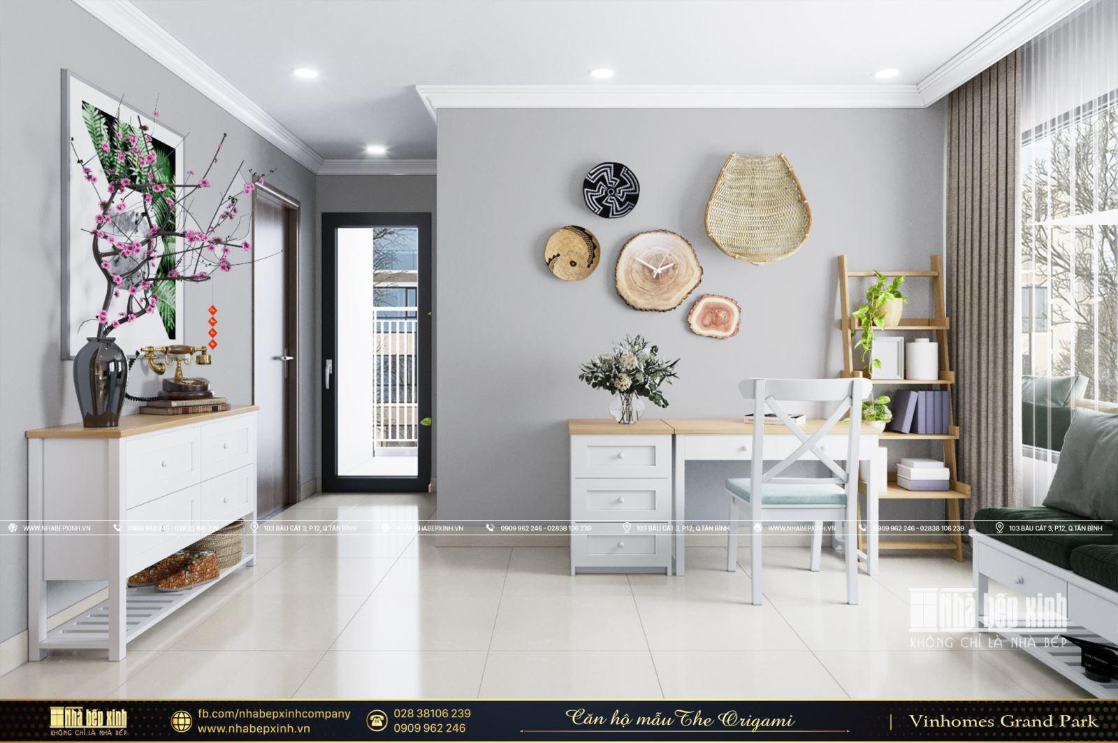 Thiết kế nội thất căn hộ mẫu 69m2 The Origami - Vinhomes Grand Park Quận 9