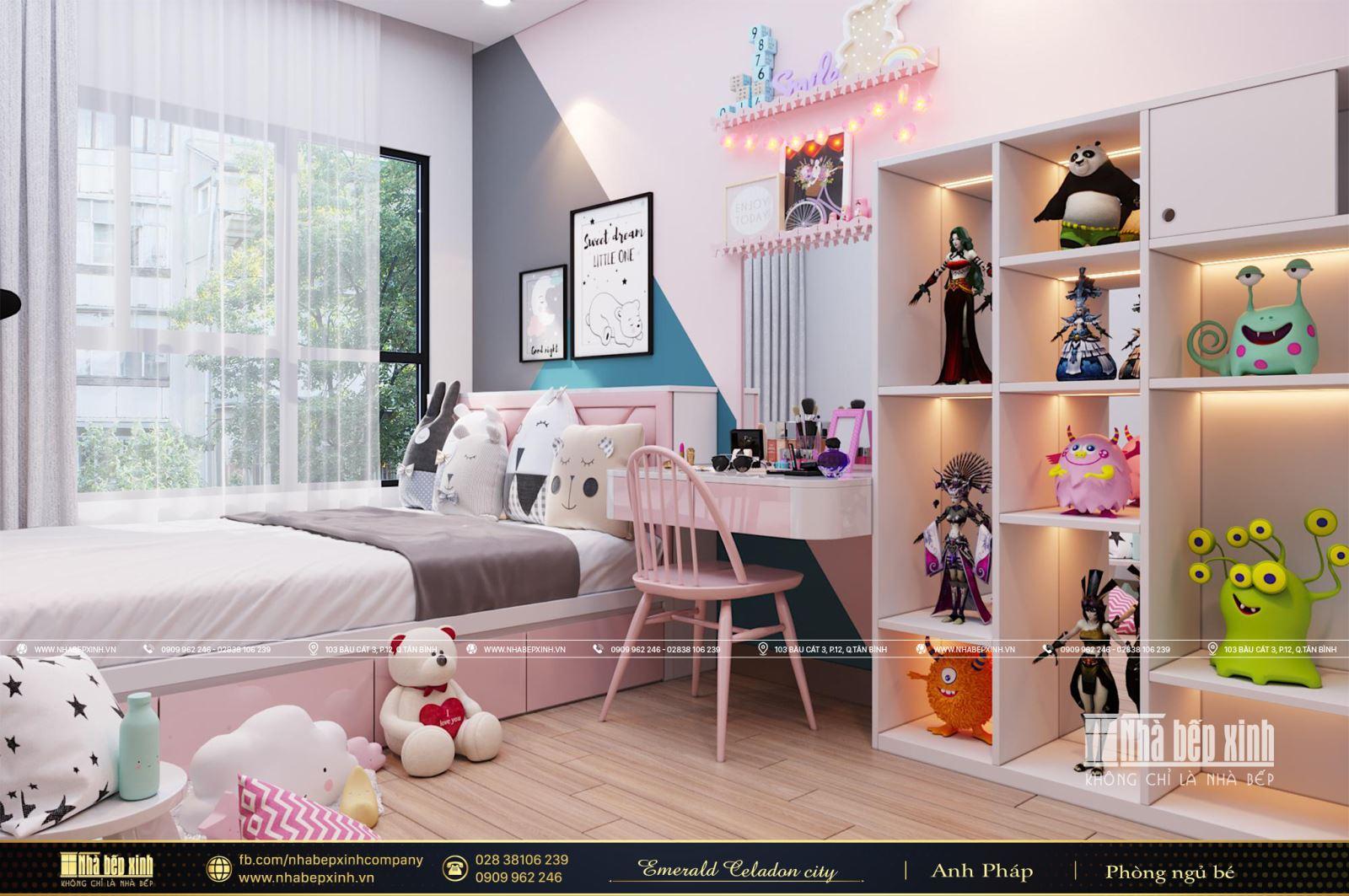 Thiết kế nội thất căn hộ chung cư cao cấp Emerald Celadon City 104m2