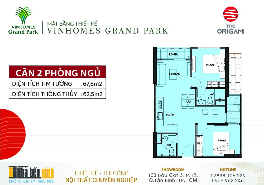 Mặt bằng căn hộ Vinhomes Grand Park - Phân khu The Origami