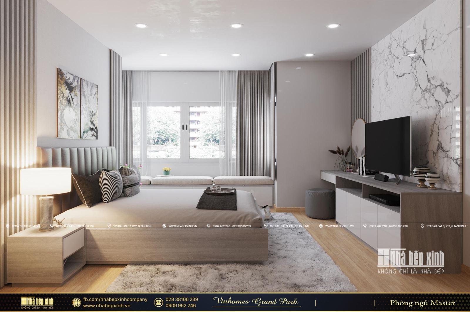 Thiết kế nội thất căn hộ Vinhomes Grand Park The Origami 70m2 - 2 phòng ngủ