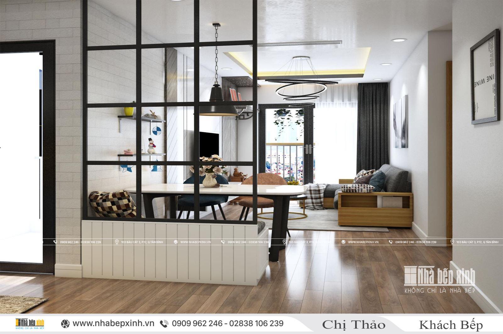 Khám phá nội thất hiện đại căn 63m2 chung cư Emerald Celadon city
