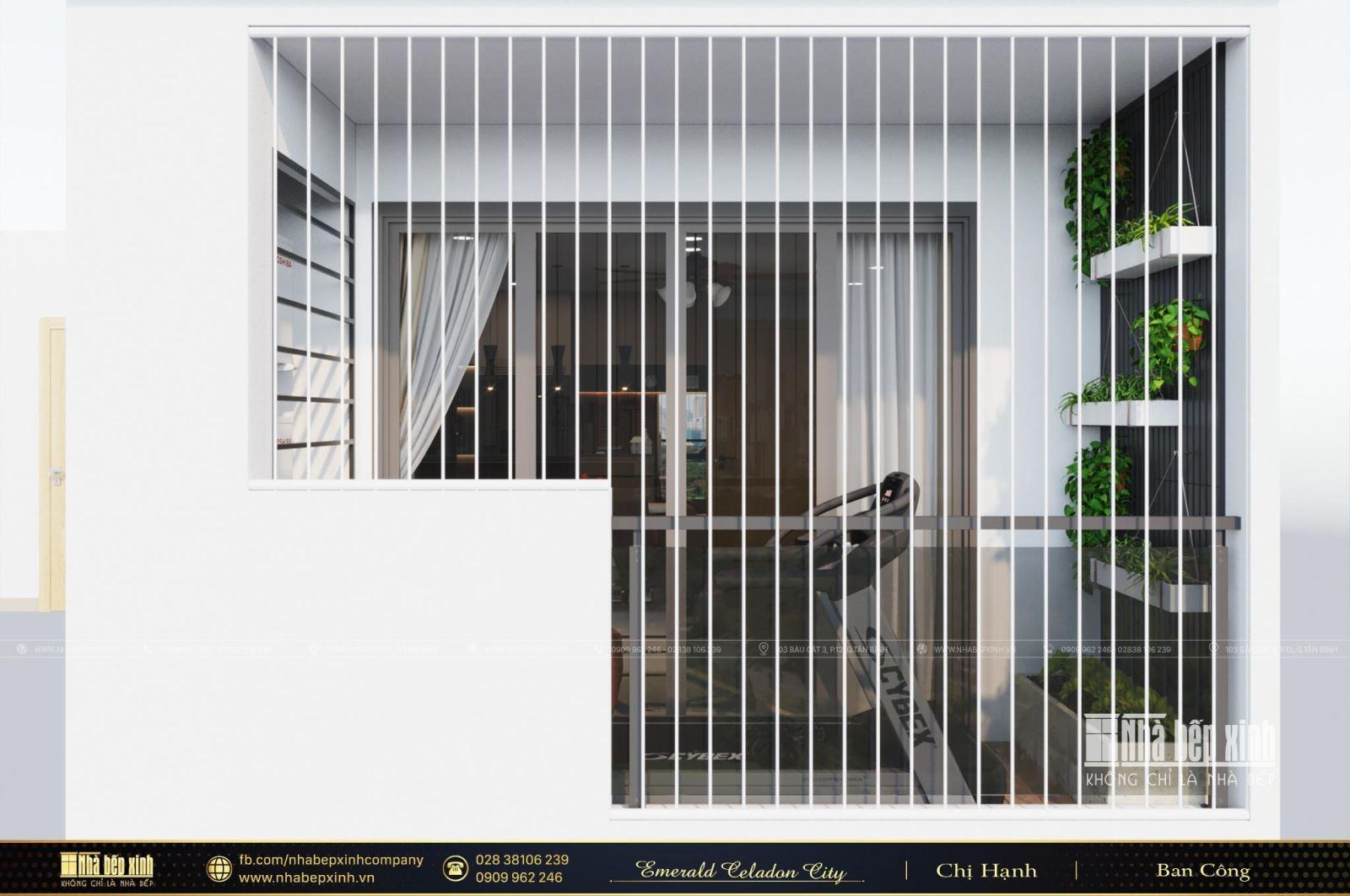 Thiết kế và thi công nội thất chung cư hiện đại căn hộ Emerald Celadon City 112m2