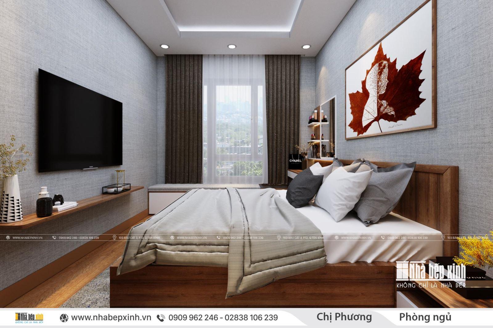 Thiết kế nội thất phòng ngủ đẹp tại Emerald Celadon City 63m2