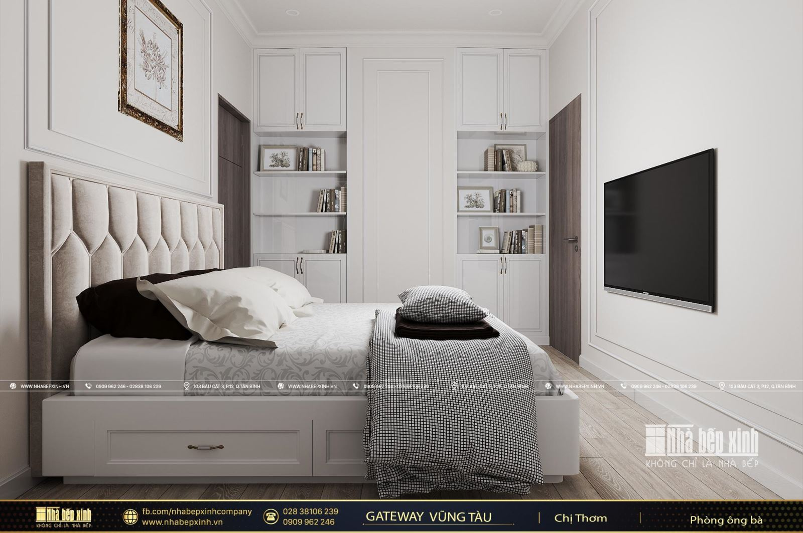 Thiết kế nội thất phòng ngủ người lớn đẹp căn Penthouse Gateway Vũng Tàu 220m2
