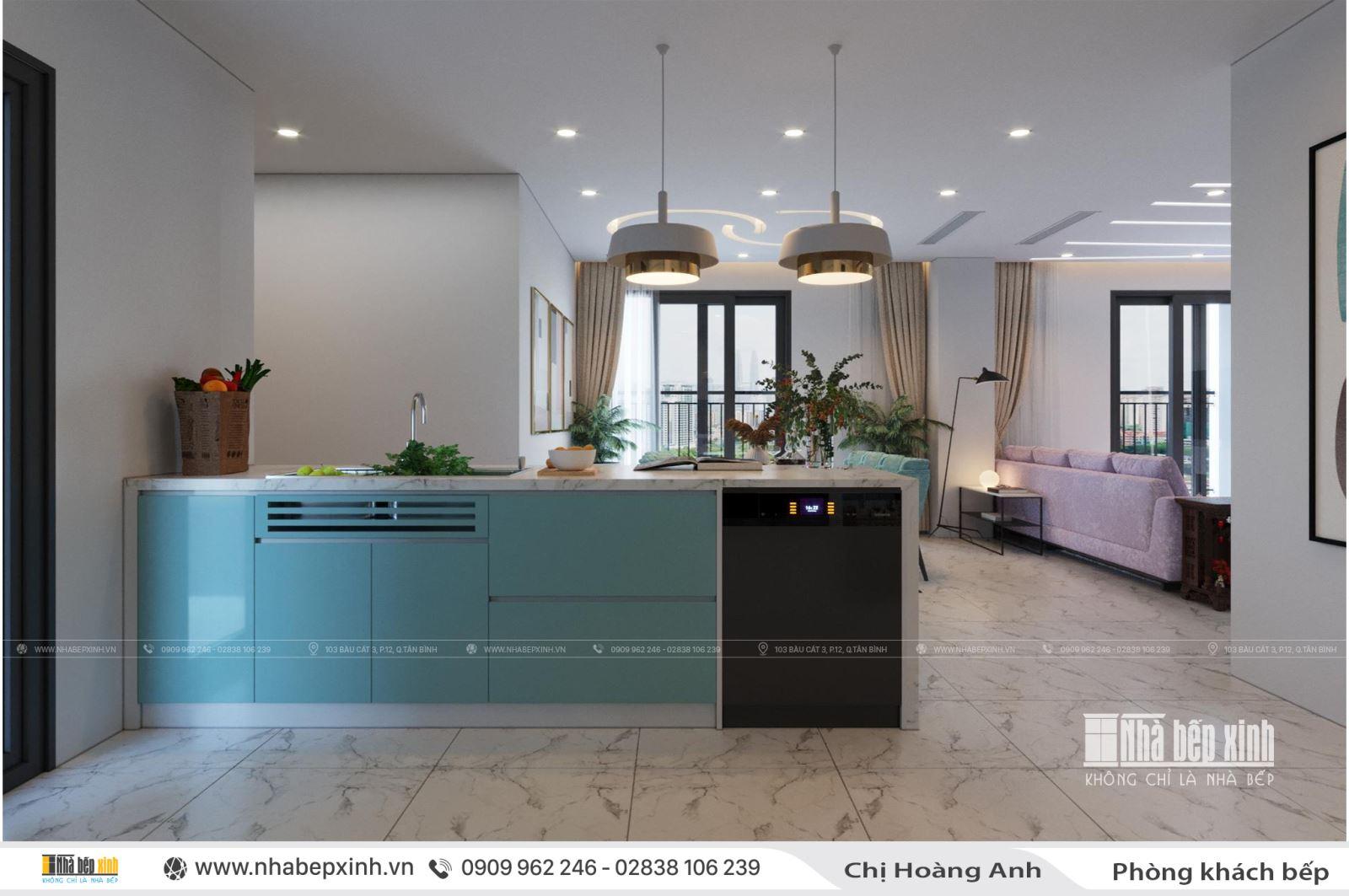 Thiết kế nội thất nguyên căn hiện đại và tiện nghi