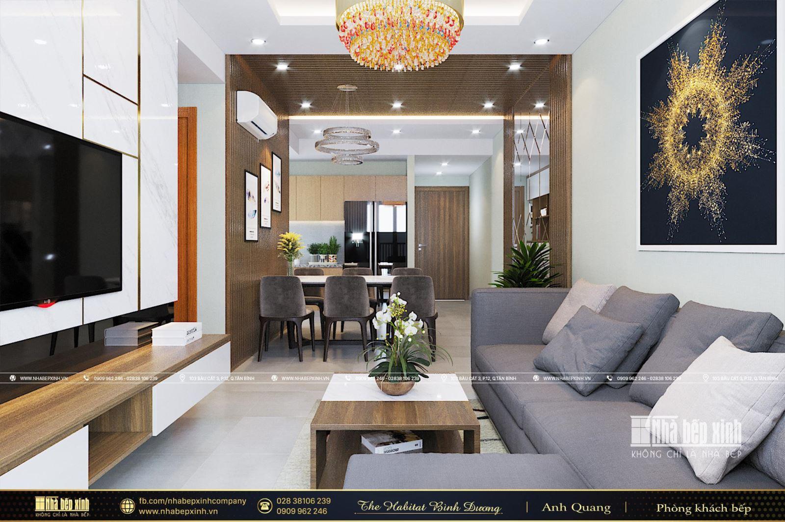 Tổng hợp những mẫu thiết kế nội thất chung cư The Habitat Bình Dương