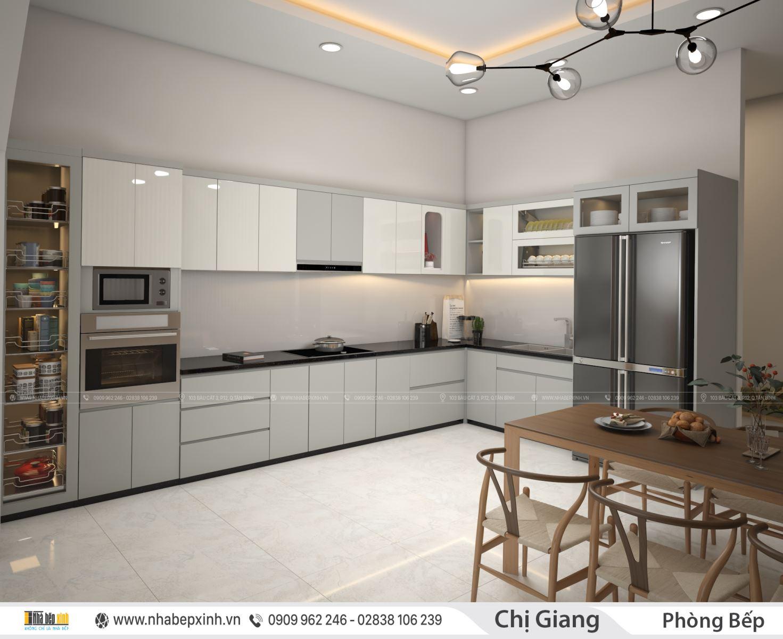 Thiết kế phòng khách - bếp hiện đại xu hướng mới nhất