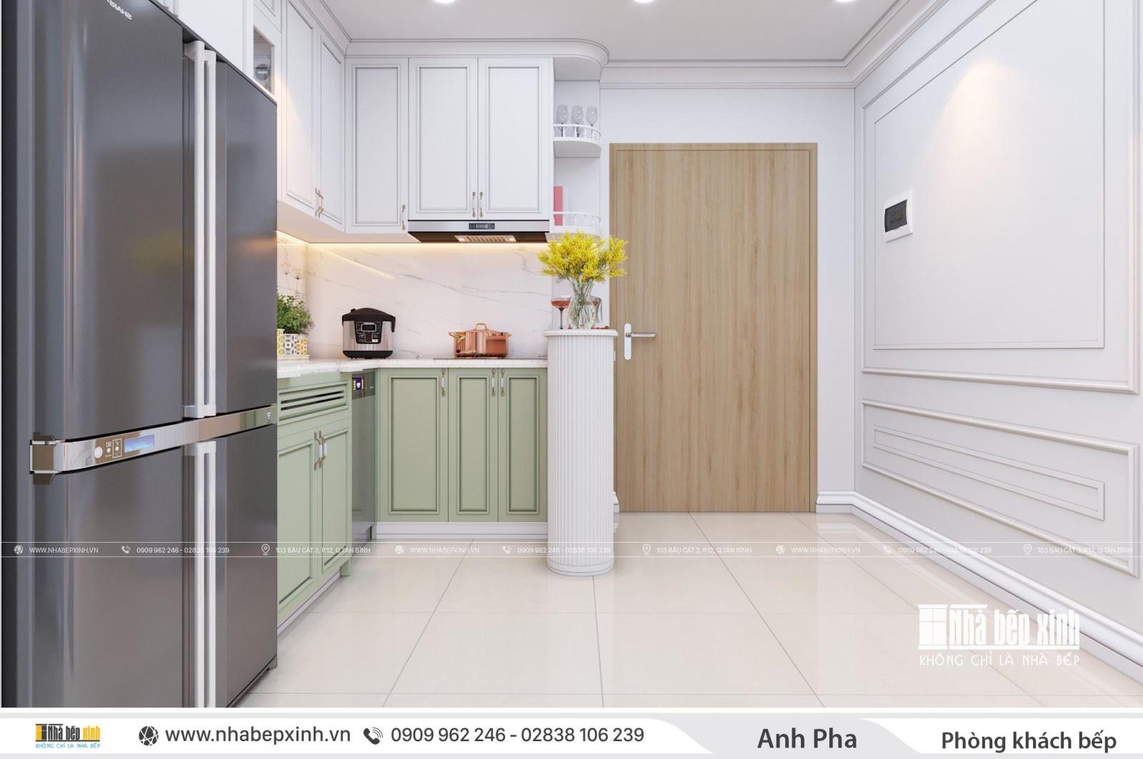 Mẫu thiết kế nội thất căn 71m2 Emerald Celadon City sang trọng trong phong cách tân cổ điển