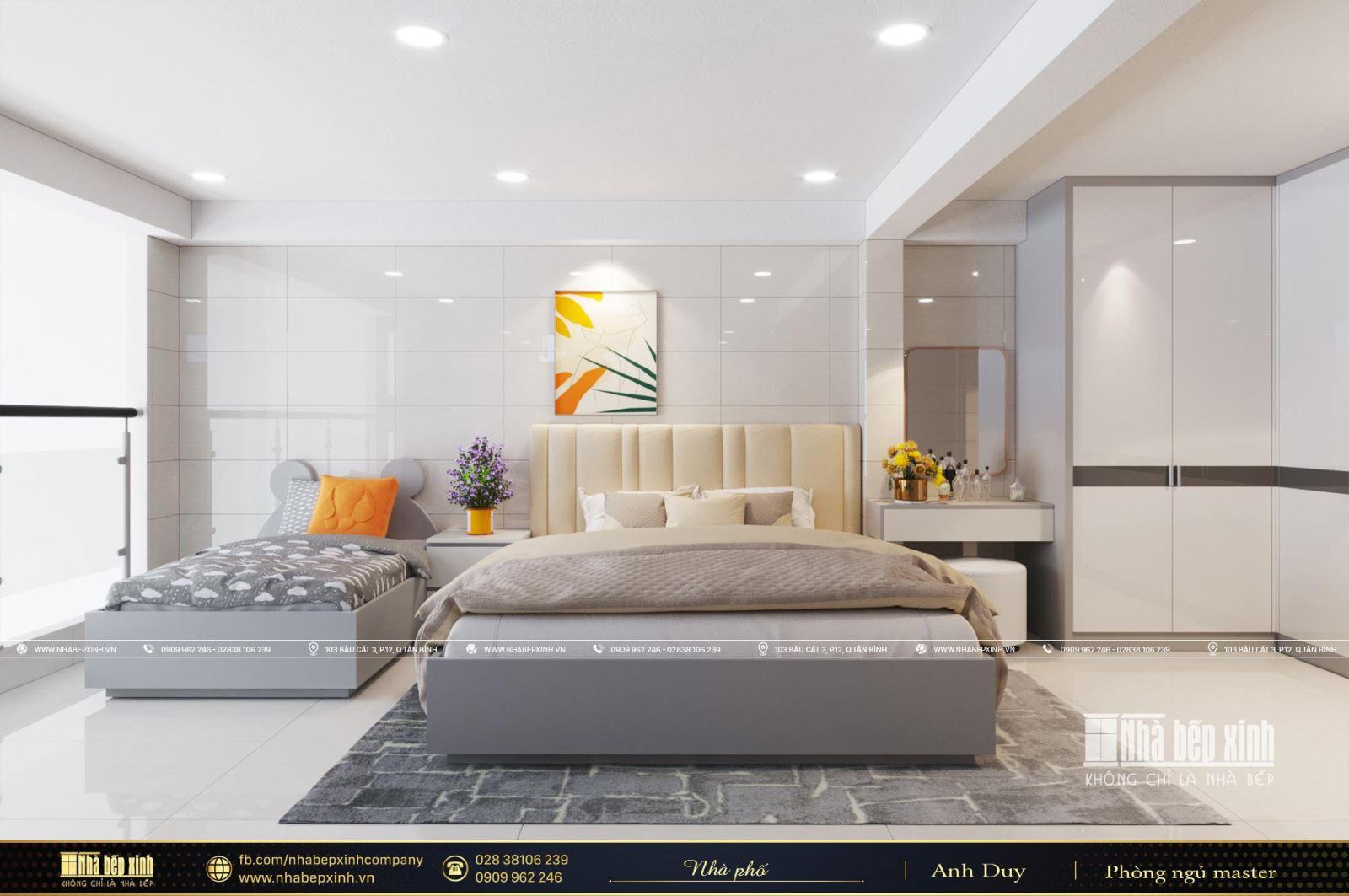 Thiết kế phòng ngủ chung cho bố mẹ và con hợp lý nhất