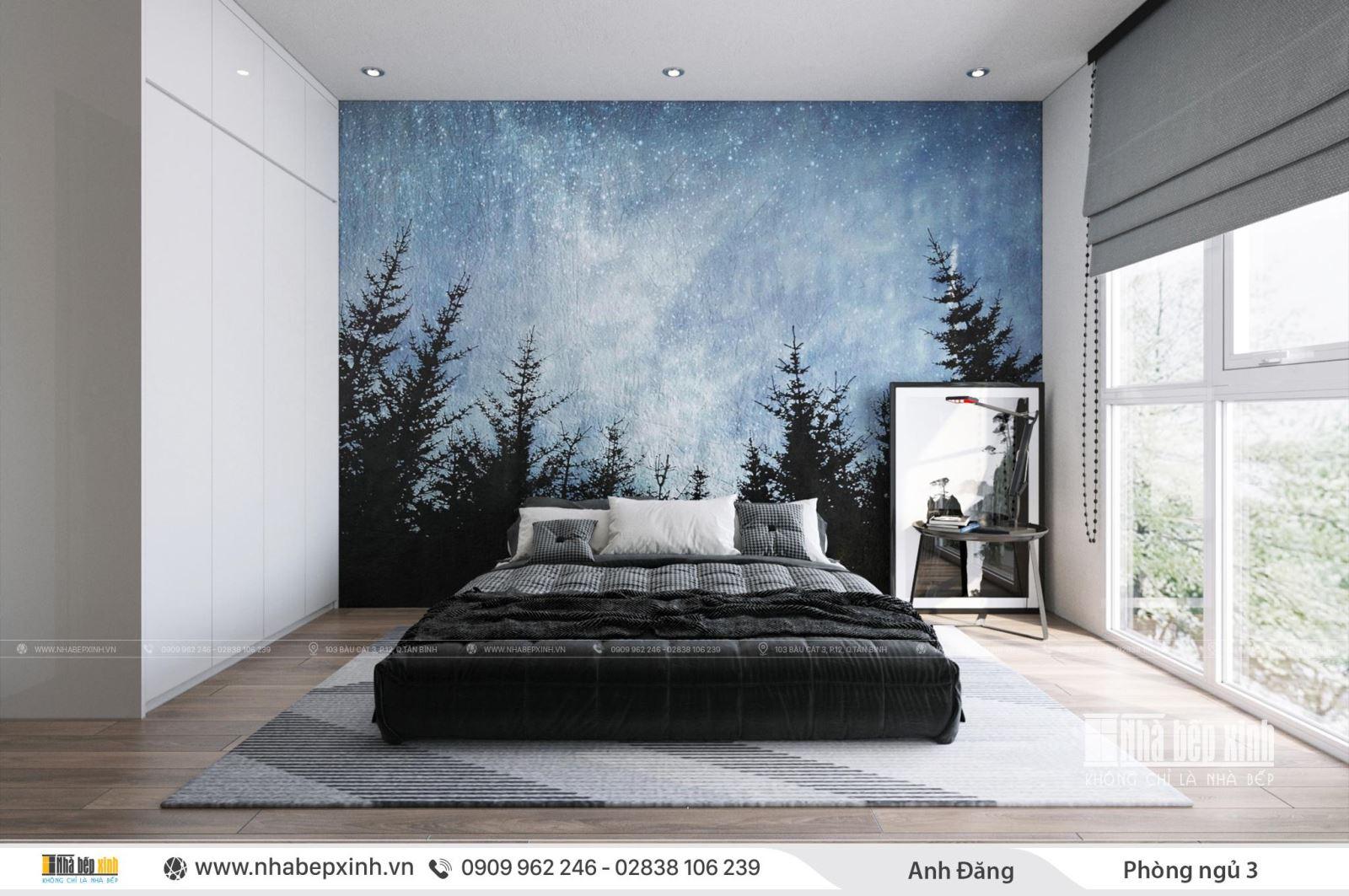 Thiết kế phòng ngủ hiện đại cá tính