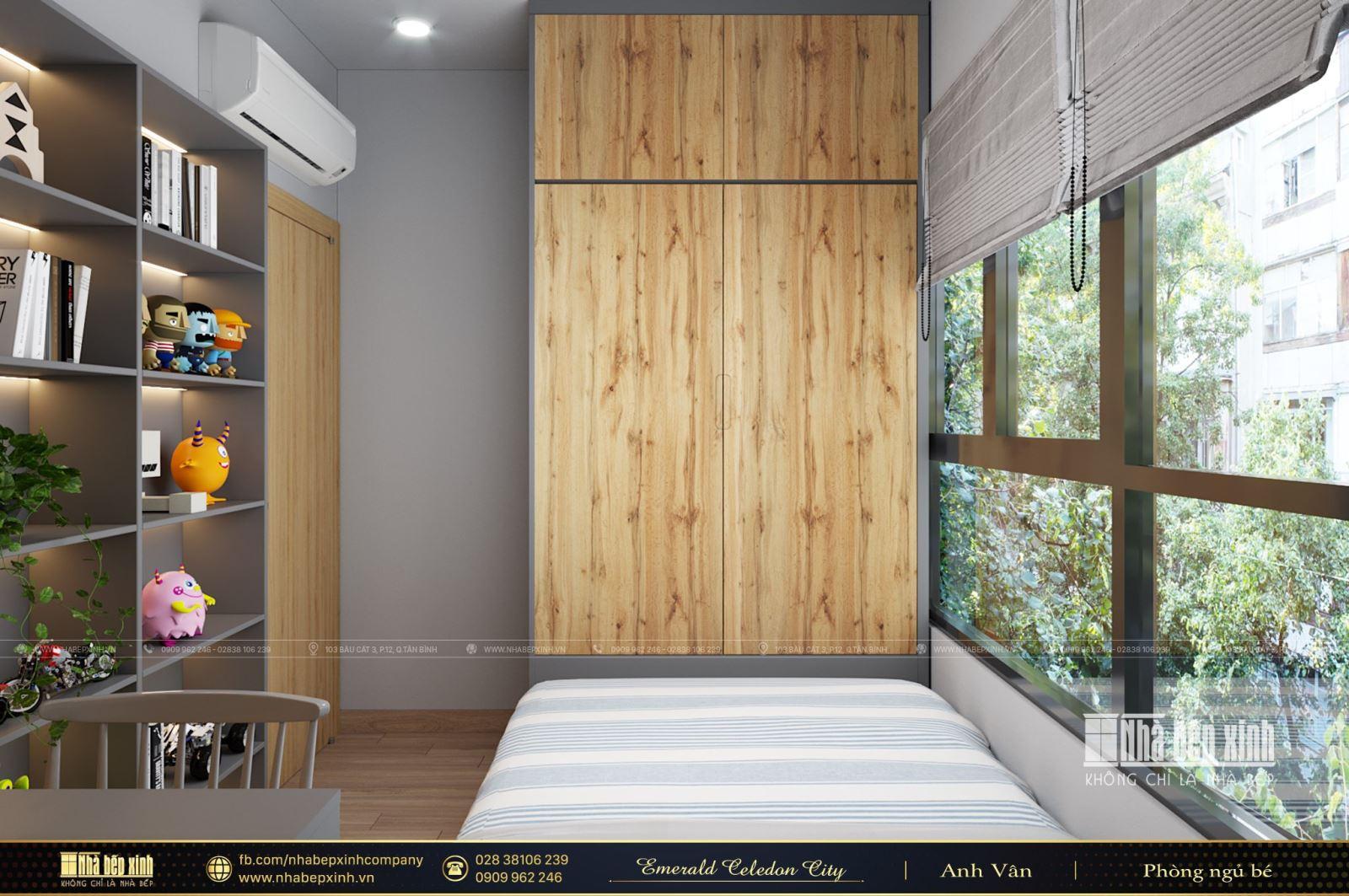 Thiết kế phòng ngủ hiện đại cho bé trai tại Emerald Celadon City 84m2
