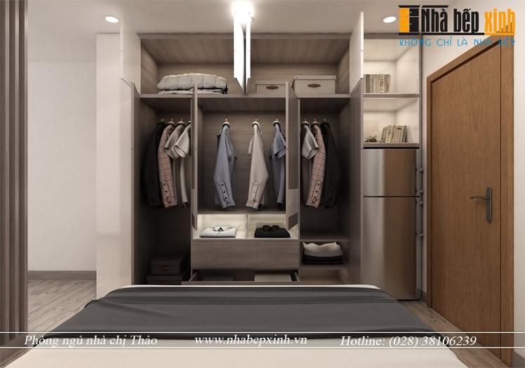 Hình ảnh thiết kế phòng ngủ hiện đại chị Thảo