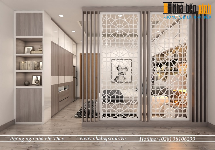 Hình ảnh thiết kế phòng ngủ hiện đại chị Thảo 3
