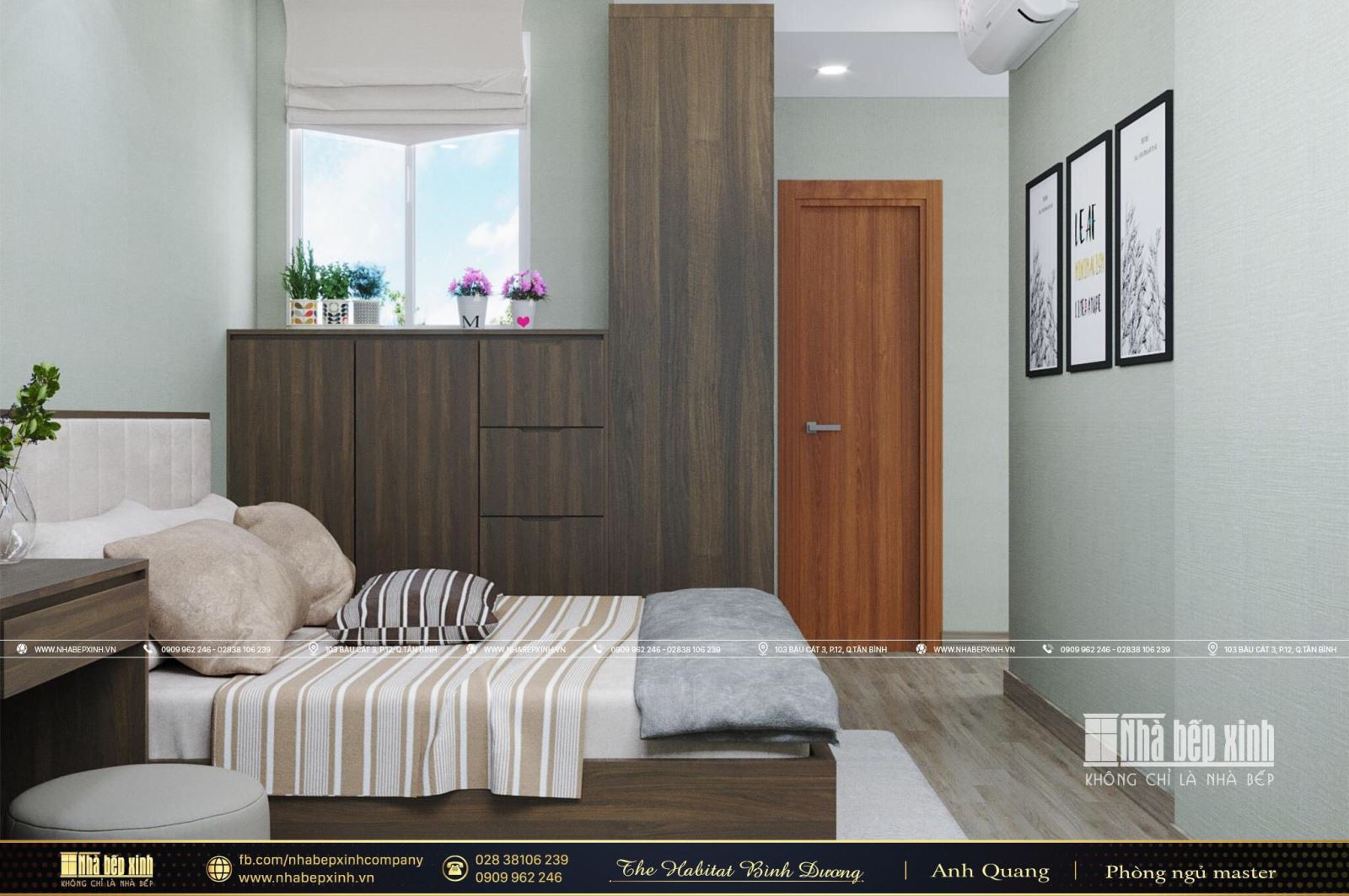 Thiết kế nội thất chung cư đẹp căn The Habitat Bình Dương 84m2 mang đậm phong cách hiện đại